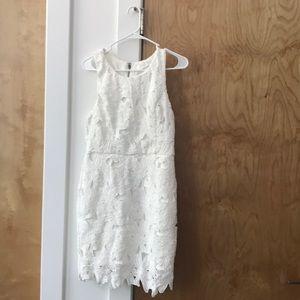 White Floral Mini Dress